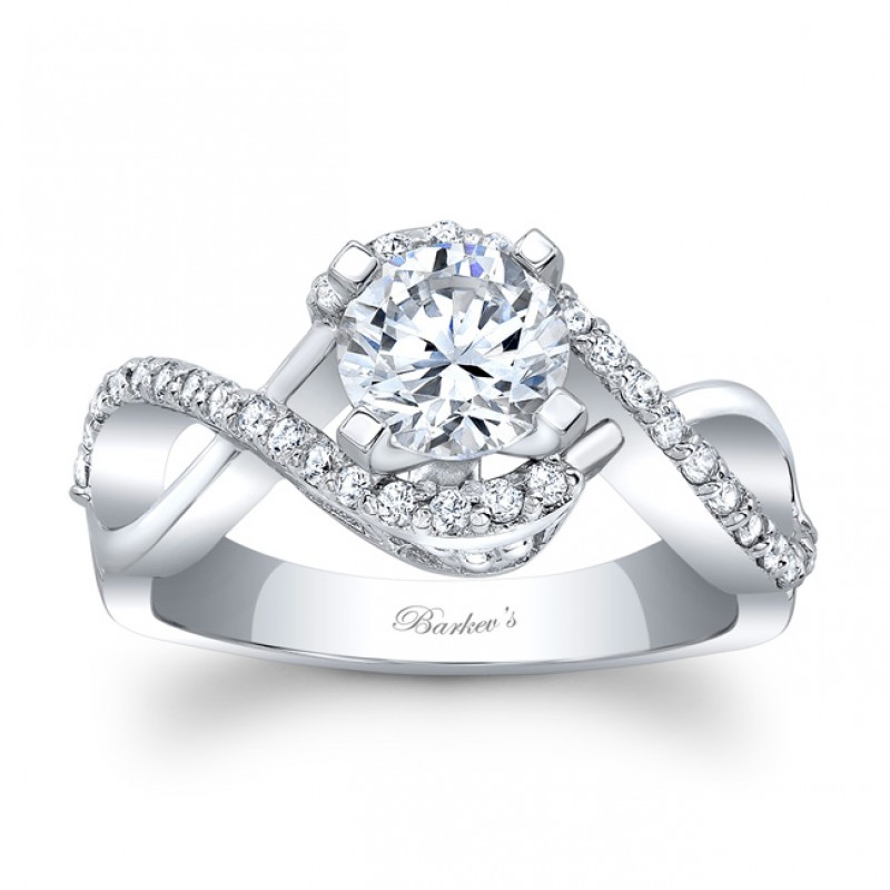 a5f65f805 Round Barkev's Designer Diamond Engagement Ring with 0.31 ct in side  diamonds 8020LW