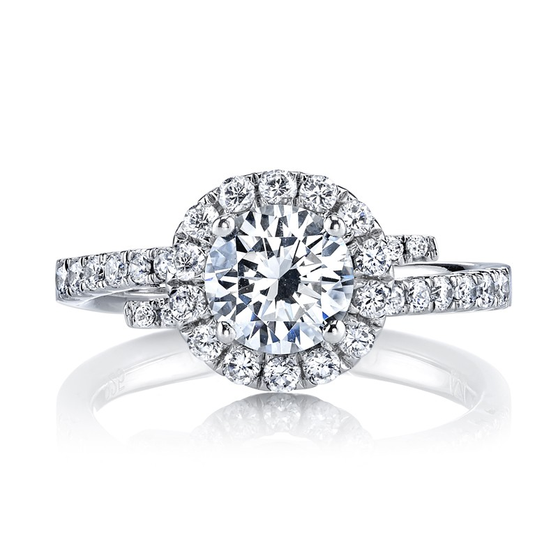 MARS 25648 Diamond Engagement Ring 0.53 Ctw.