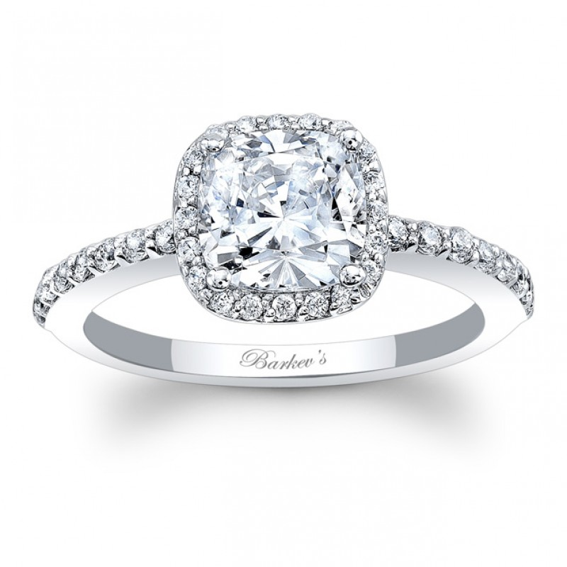 BARKEV'S Halo Engagement Ring 8011LW