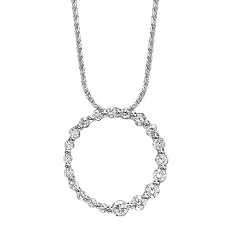 Eternity Diamond Circle Pendant