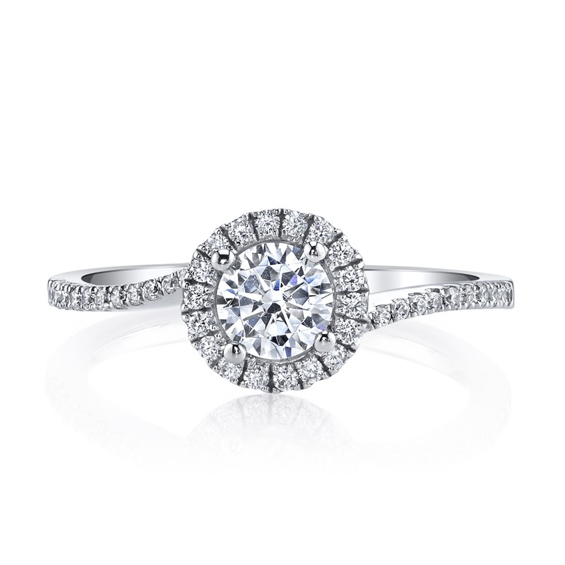 MARS 25393  Diamond Engagement Ring 0.22 Ctw.