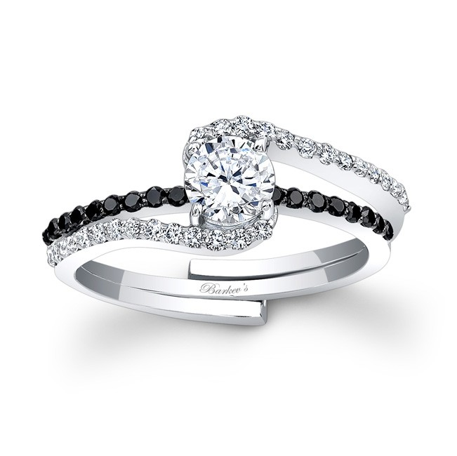 Black Diamond Engagement Set