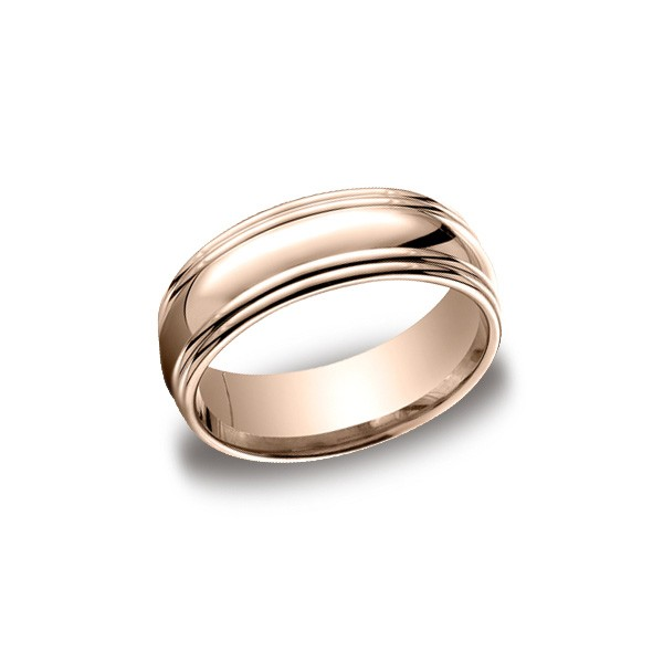 Designs Rose Gold 7.5mm Band