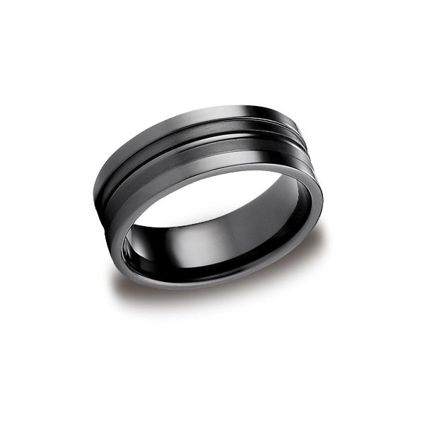 Forge Black Titanium 8mm Band