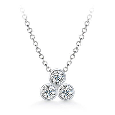 three stone diamond pendant