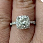 Matthew Ryan Designer Halo style Cushion Cut Diamond Engagement Ring in 18KT White Gold #18766