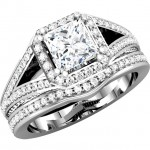 Matthew Ryan Design14K White Gold 3/4 ct tw Diamond Engagement / Bridal Ring Setting MRD 67859
