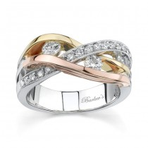 Tri Color Diamond Band