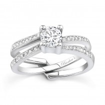 White gold diamond engagement ring set - 7142SW