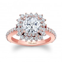 Barkev's Cushion Cut Engagement Ring in 14KT Rose Gold 8001LPW