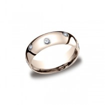 Diamonds Rose Gold 6mm Diamond Band