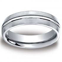 Cobaltchrome 6mm Comfort-Fit Satin-Finished Design Ring