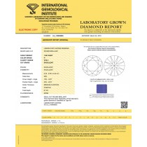 1.06 carat Round Cut Lab Grown Loose Diamond IGI CERTIFIED H-VVS2 Quality 310859955