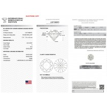 1.65 carat Round Cut Lab Grown Loose Diamond F-VS2 Quality IGI Certified LG371968072
