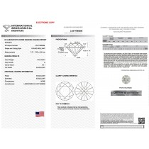 1.70 Carat Round Cut Lab Grown Loose Diamond G-VS1 Quality IGI Certified LG371969288