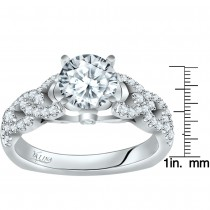Valina Engagement Bridal Set Ring in 14KT White Gold with 0.34 carat in Round side Diamonds R9266W_BW