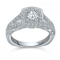 Valina Designer Diamond Engagement Ring Set in 14KT White Gold with 0.43 ct in side diamonds R9389W_BW