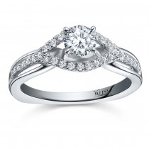 Valina Engagement Bridal Set Ring in 14KT White Gold with 0.21 carat in Round Side Diamonds RQ9358W