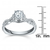 Valina Bridal Ring Set in 14KT White Gold with 0.24 carat in Round Diamonds RQ9368W_BW