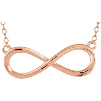 "14kt Rose Gold Infinity Sign 18"" Necklace 85947"
