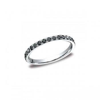 Diamonds White Gold 2mm Black Diamond Band