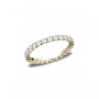 Diamonds Yellow Gold 2.5mm Diamond Band