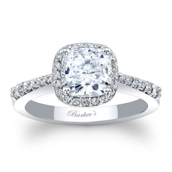 Barkev's Halo style Engagement Ring 8019LW