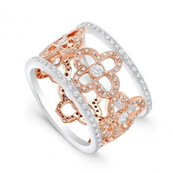 R10459(A)-D,D,CZ (White and Rose Gold)