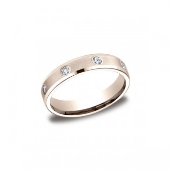 Diamonds Rose Gold 4mm Diamond Band