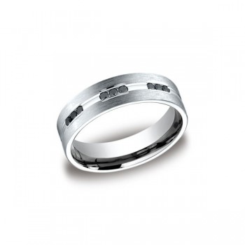 Diamonds White Gold 6mm Black Diamond Band