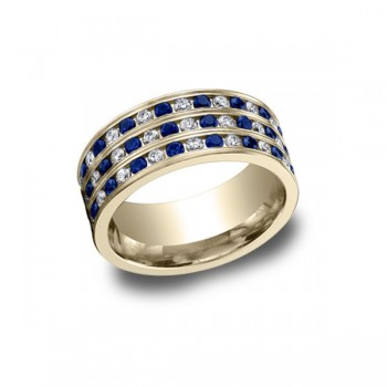 Diamonds Yellow Gold 8mm Band