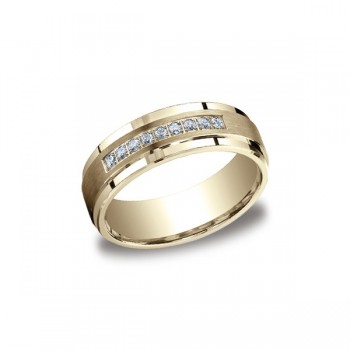 Diamonds Yellow Gold 7mm Diamond Band