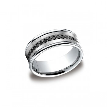 Diamonds White Gold 7.5mm Black Diamond Band