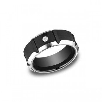 Forge Cobalt 8mm Diamond Band