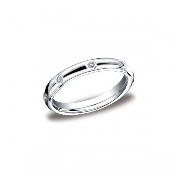 Diamonds White Gold 3mm Diamond Band