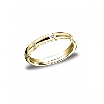 Diamonds Yellow Gold 3mm Diamond Band