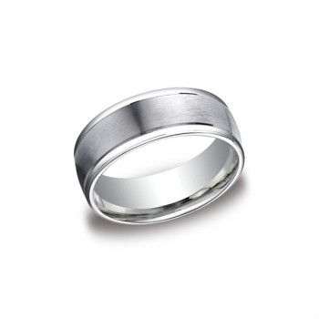 Designs White Gold 8mm Band
