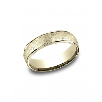 Designs Yellow Gold 6.5mm Band